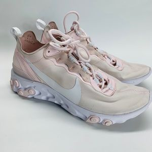 Nike React Element 55 Pale Pink White Shoes Sz 10
